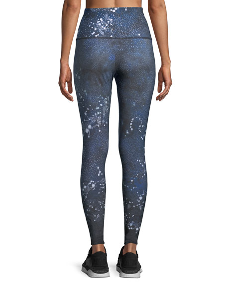High-Rise Constellation-Print Full-Length Leggings