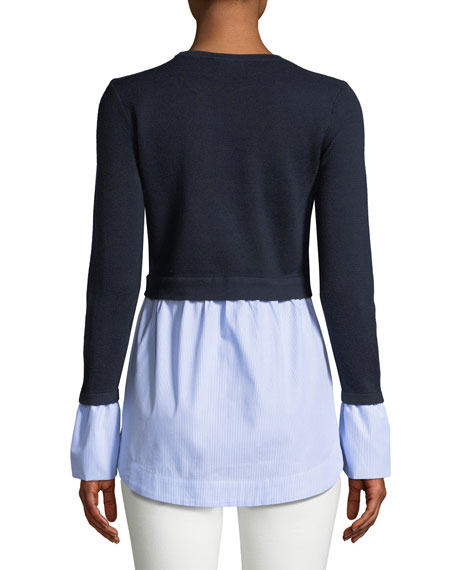 Berdine Contrast Long-Sleeve Sweater