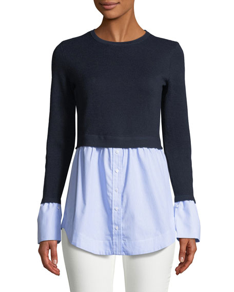 Club Monaco Berdine Contrast Long-Sleeve Sweater