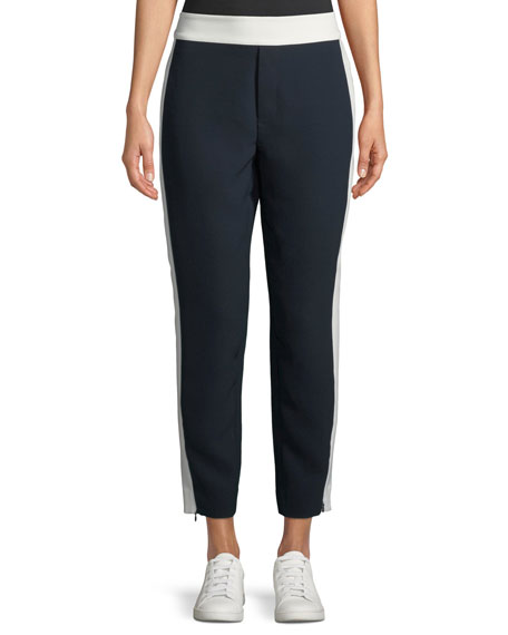 Club Monaco Abhy Straight-Leg Zip-Hem Pants