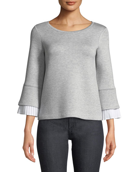 Club Monaco Sweedie Pleated Knit Top