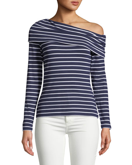 Club Monaco Kadeejah Asymmetric Long-Sleeve Top