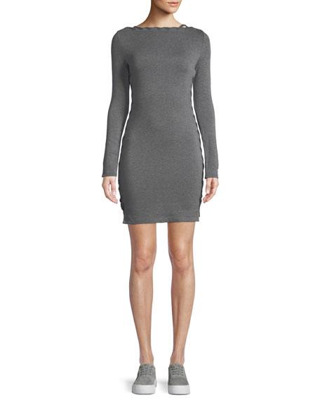Lazy Day Long-Sleeve Body-Con Mini Dress