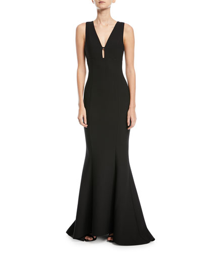 Albury Cutout-Back Trumpet Dress