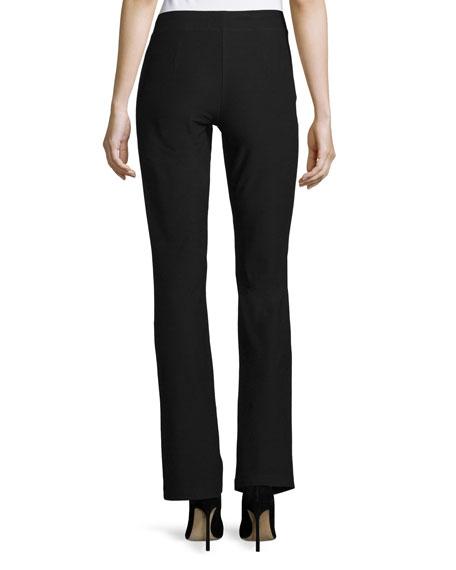 Washable-Crepe Boot-Cut Pants, Plus Size