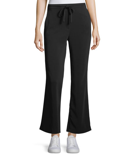 A.L.C. Samuel Drawstring Flared-Leg Pants