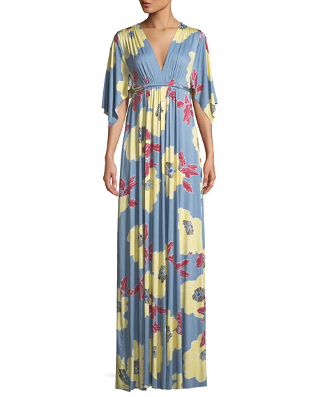 Rachel Pally Bloom-Print Long Caftan Dress, Plus Size
