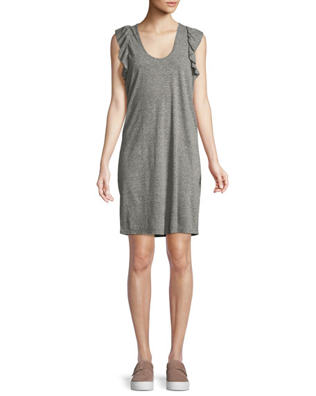The Cadence Scoop-Neck Heathered Dress