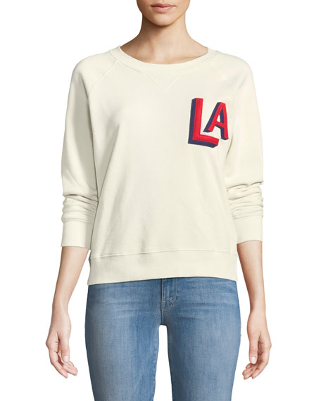 Mother Crewneck Raglan Sweatshirt with Topstitching