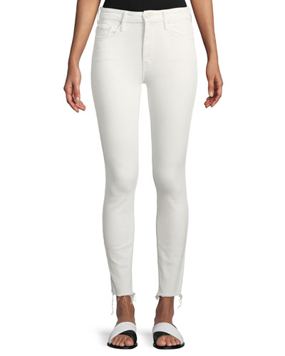 High-Waist Skinny Looker Ankle-Fray Jeans