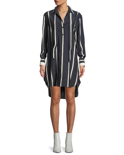 Arc Striped Silk Tunic