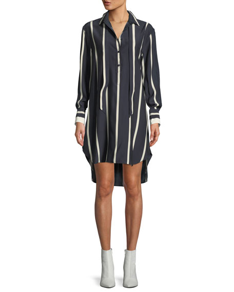 Rag & Bone Arc Striped Silk Tunic