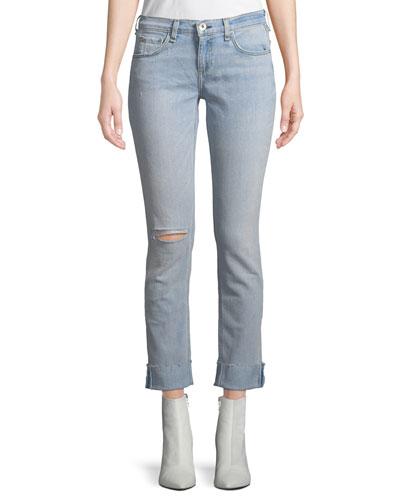 Dre Mid-Rise Straight-Leg Jeans