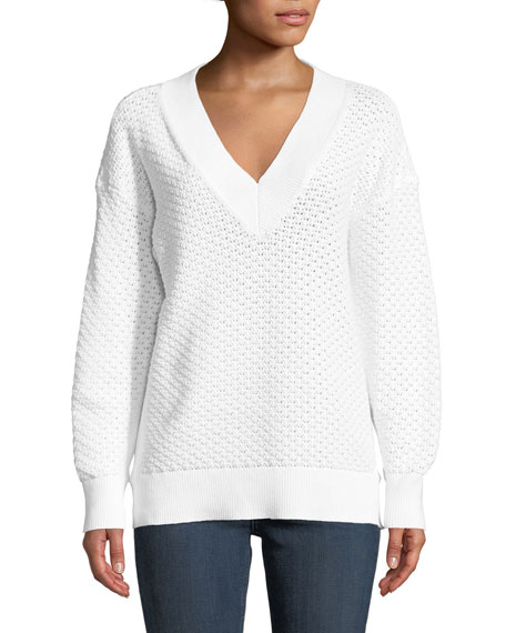 Kyra V-Neck Long-Sleeve Knit Sweater