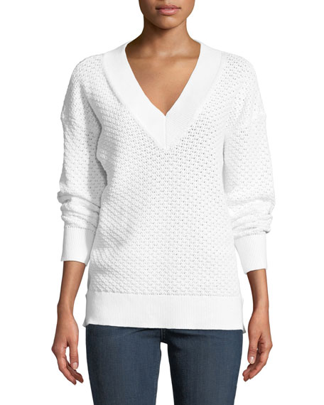Rag & Bone Kyra V-Neck Long-Sleeve Knit Sweater