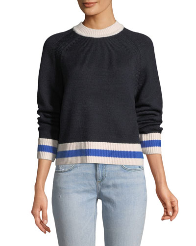 Hattie Long-Sleeve Crewneck Sweater