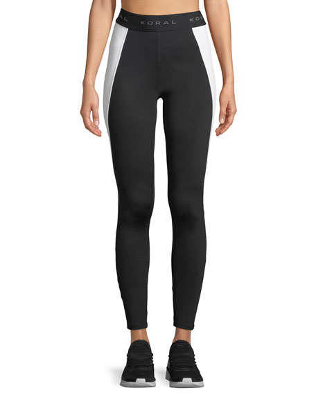 Blunt Side-Panel Full-Length Leggings