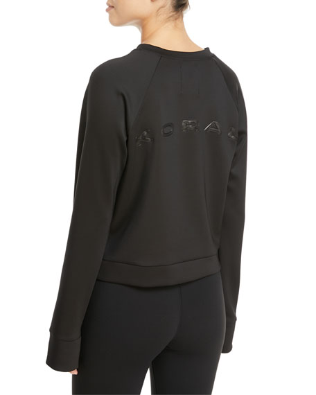Crown Crewneck Thumbhole Pullover Sweatshirt