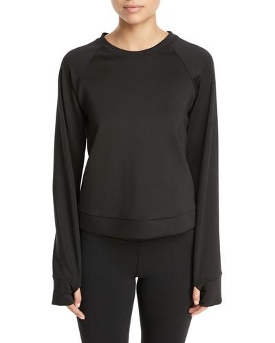 Koral Activewear Crown Crewneck Thumbhole Pullover Sweatshirt 596916d9d1c