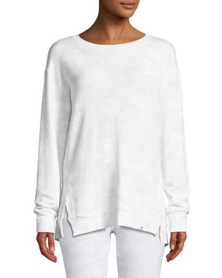 Soothe Tieback Camo-Print Pullover