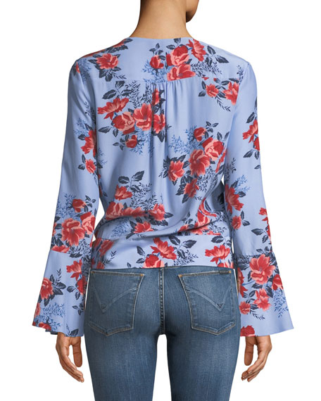 Isabella Floral Silk Blouse