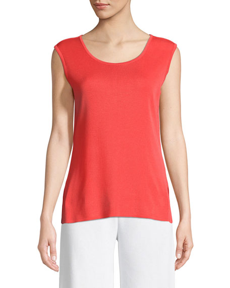 Scoop-Neck Knit Tank