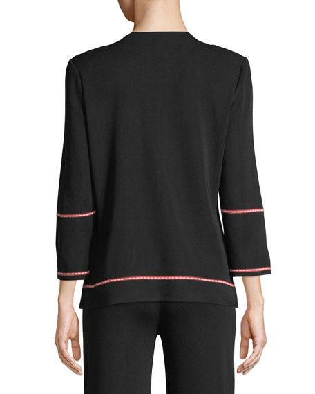 Street Map Zip-Front Jacket, Plus Size