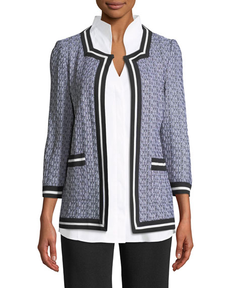 Misook 3/4-Sleeve Textured Jacket and Matching Items