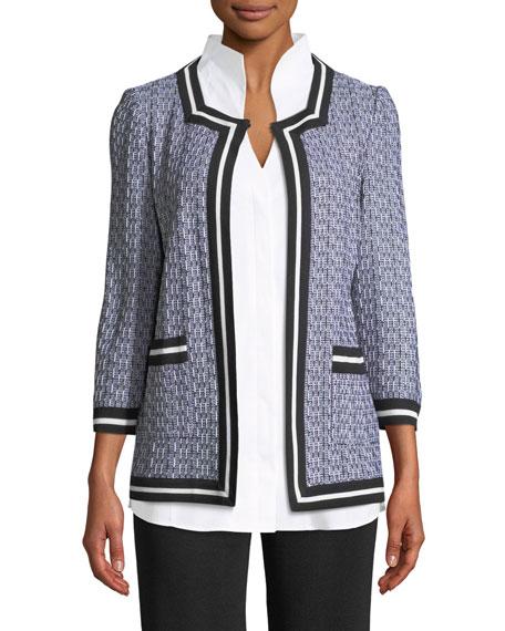 3/4-Sleeve Textured Jacket