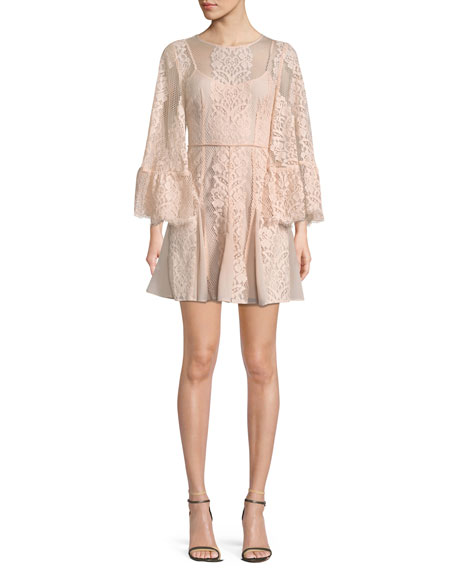 La Maison Talulah Lust Over Bell-Sleeve Lace Dress