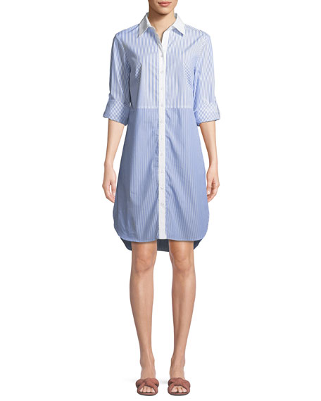 Finley Maxwell Mixed Striped Shirtdress