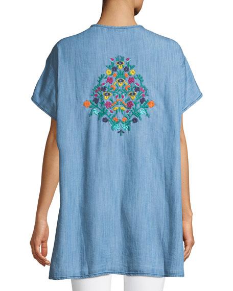 Tiffany Embroidered Denim Tunic