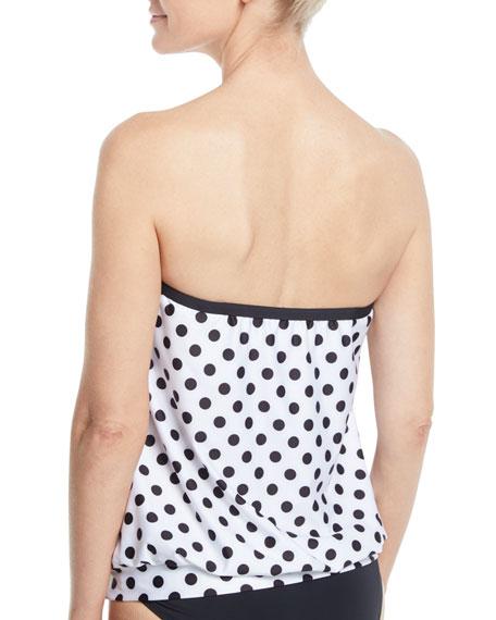 Polka-Dot Print Bandini Swim Top