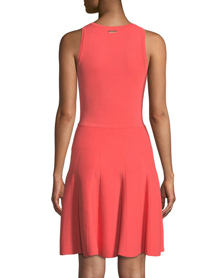 Stretch-Knit Fit-and-Flare Dress