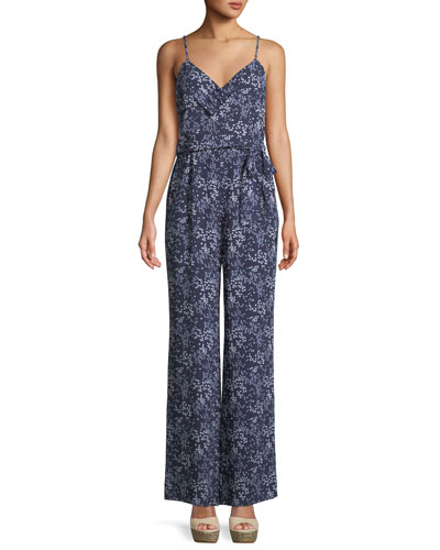 Scattered Blooms Sleeveless Jumpsuit