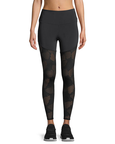 Onzie Half/Half 2.0 Patterned Mesh Performance Leggings