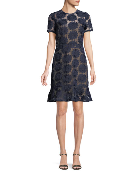 MICHAEL Michael Kors Floral Embroidered Dress