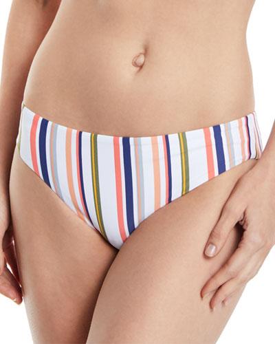 Line Up Retro Striped Hipster Swim Bikini Bottoms