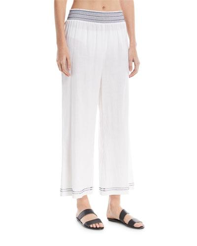Liam Wide-Leg Cotton Gauze Coverup Pants