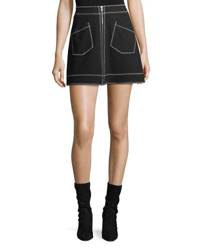 Mini Skirt w/ Contrast Stitching