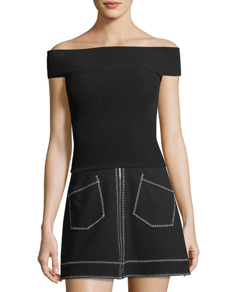 McQ Alexander McQueen Bandeau Off-the-Shoulder Top and Matching
