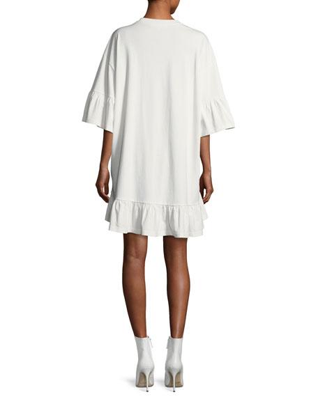 Embellished Loose Ruffle Dress