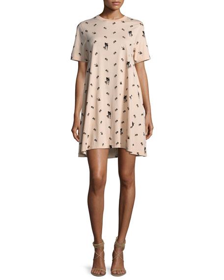 McQ Alexander McQueen Babydoll Mini Short-Sleeve Dress