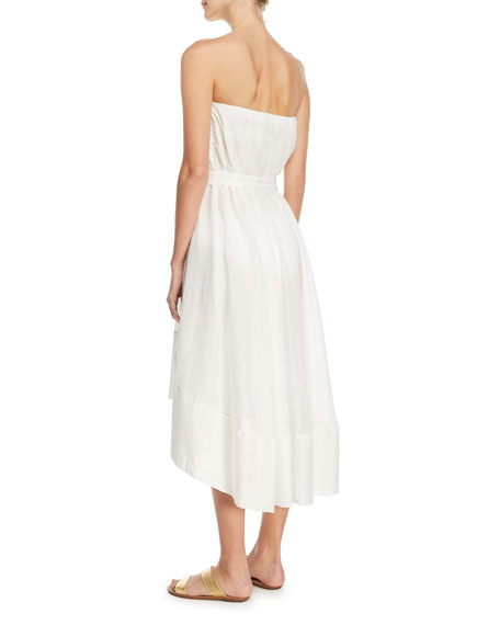 Breezy Frill Voile Coverup Dress w/ Lined Belt