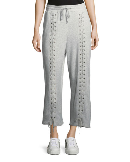 Lace-Up Drawstring Sweatpants
