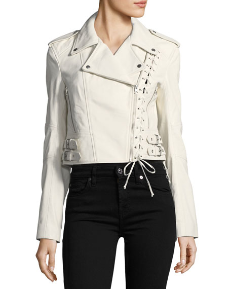 Jacket 59 Lace-Up Leather Jacket