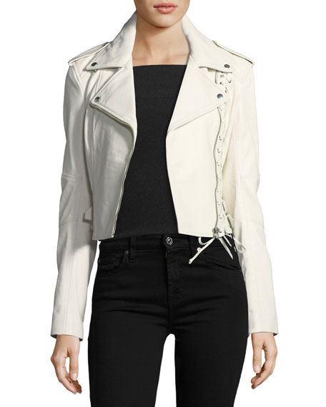 McQ Alexander McQueen Jacket 59 Lace-Up Leather Jacket