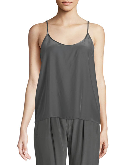 ATM Anthony Thomas Melillo Scoop-Neck Silk Camisole