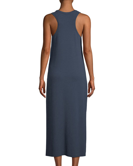 Scoop-Neck Racerback Sleeveless Knit Dress