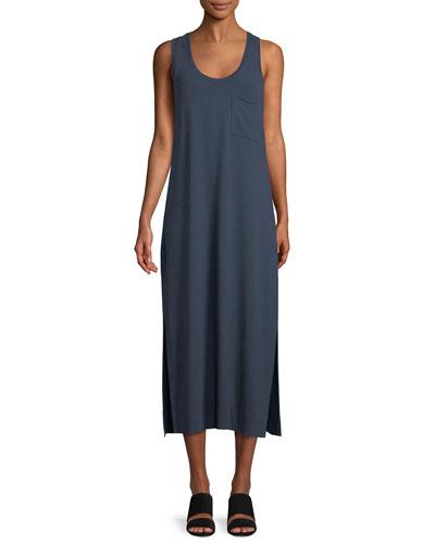 Scoop-Neck Racerback Sleeveless Knit Dress